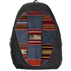 Strip Woven Cloth Backpack Bag by Jojostore