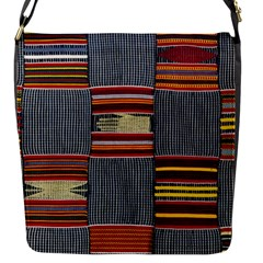 Strip Woven Cloth Flap Messenger Bag (s) by Jojostore