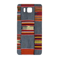 Strip Woven Cloth Samsung Galaxy Alpha Hardshell Back Case by Jojostore