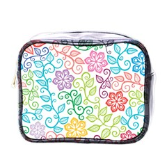 Texture Flowers Floral Seamless Mini Toiletries Bags