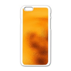 Blurred Glass Effect Apple Iphone 6/6s White Enamel Case by Amaryn4rt