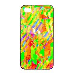 Cheerful Phantasmagoric Pattern Apple Iphone 4/4s Seamless Case (black) by Amaryn4rt