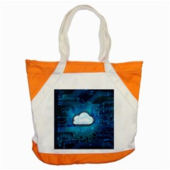 Circuit Computer Chip Cloud Security Accent Tote Bag