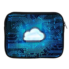 Circuit Computer Chip Cloud Security Apple Ipad 2/3/4 Zipper Cases