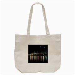 Cleveland Building City By Night Tote Bag (cream)