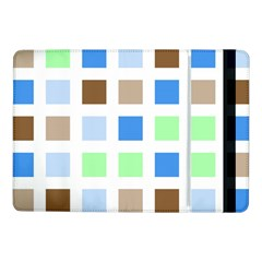 Colorful Green Background Tile Pattern Samsung Galaxy Tab Pro 10 1  Flip Case