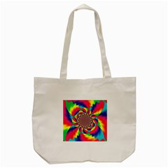 Colorful Psychedelic Art Background Tote Bag (cream)