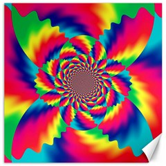 Colorful Psychedelic Art Background Canvas 16  X 16   by Amaryn4rt