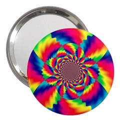 Colorful Psychedelic Art Background 3  Handbag Mirrors