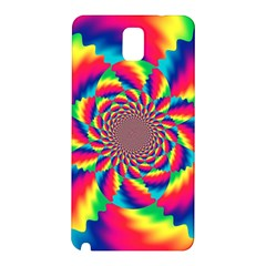 Colorful Psychedelic Art Background Samsung Galaxy Note 3 N9005 Hardshell Back Case by Amaryn4rt