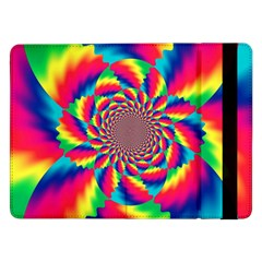 Colorful Psychedelic Art Background Samsung Galaxy Tab Pro 12 2  Flip Case by Amaryn4rt