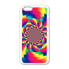 Colorful Psychedelic Art Background Apple Iphone 6/6s White Enamel Case by Amaryn4rt