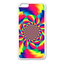 Colorful Psychedelic Art Background Apple Iphone 6 Plus/6s Plus Enamel White Case by Amaryn4rt