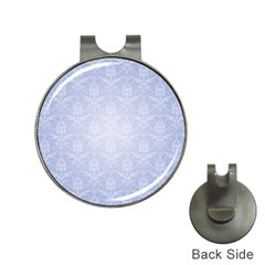 Damask Pattern Wallpaper Blue Hat Clips With Golf Markers