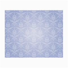 Damask Pattern Wallpaper Blue Small Glasses Cloth (2-side) by Amaryn4rt