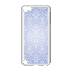 Damask Pattern Wallpaper Blue Apple Ipod Touch 5 Case (white) by Amaryn4rt