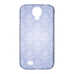 Damask Pattern Wallpaper Blue Samsung Galaxy S4 Classic Hardshell Case (pc+silicone) by Amaryn4rt