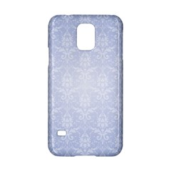 Damask Pattern Wallpaper Blue Samsung Galaxy S5 Hardshell Case  by Amaryn4rt