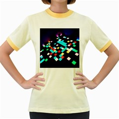 Dance Floor Women s Fitted Ringer T Shirts by Amaryn4rt