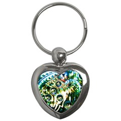 Dark Abstract Bubbles Key Chains (heart)  by Amaryn4rt