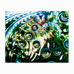 Dark Abstract Bubbles Small Glasses Cloth (2 Side)