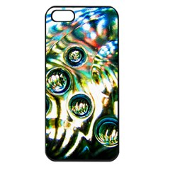 Dark Abstract Bubbles Apple Iphone 5 Seamless Case (black) by Amaryn4rt