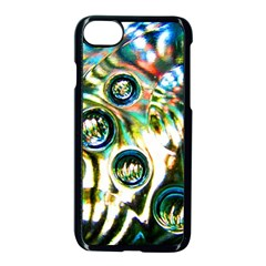 Dark Abstract Bubbles Apple Iphone 7 Seamless Case (black)