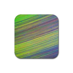 Diagonal Lines Abstract Rubber Coaster (square)