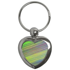 Diagonal Lines Abstract Key Chains (heart)  by Amaryn4rt