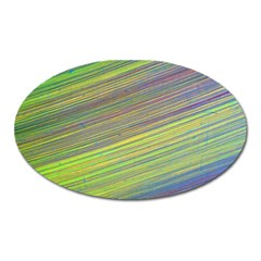 Diagonal Lines Abstract Oval Magnet by Amaryn4rt