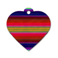 Fiesta Stripe Colorful Neon Background Dog Tag Heart (one Side) by Amaryn4rt
