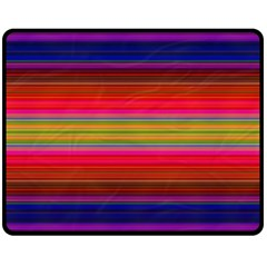 Fiesta Stripe Colorful Neon Background Double Sided Fleece Blanket (medium)