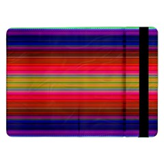 Fiesta Stripe Colorful Neon Background Samsung Galaxy Tab Pro 12 2  Flip Case by Amaryn4rt