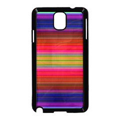 Fiesta Stripe Colorful Neon Background Samsung Galaxy Note 3 Neo Hardshell Case (black) by Amaryn4rt