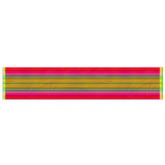 Fiesta Stripe Colorful Neon Background Flano Scarf (small)