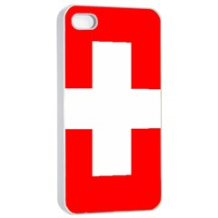 Flag Of Switzerland Apple Iphone 4/4s Seamless Case (white) by Amaryn4rt