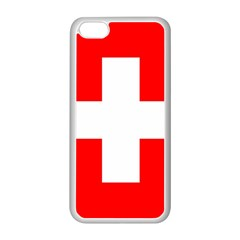 Flag Of Switzerland Apple Iphone 5c Seamless Case (white) by Amaryn4rt