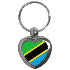 Flag Of Tanzania Key Chains (heart)  by Amaryn4rt