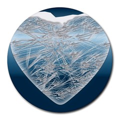 Frozen Heart Round Mousepads by Amaryn4rt