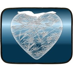 Frozen Heart Double Sided Fleece Blanket (mini)  by Amaryn4rt
