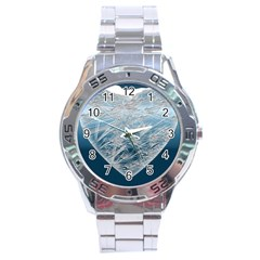 Frozen Heart Stainless Steel Analogue Watch by Amaryn4rt
