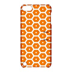 Golden Be Hive Pattern Apple Ipod Touch 5 Hardshell Case With Stand by Amaryn4rt