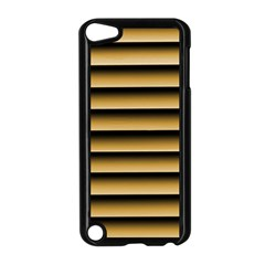 Golden Line Background Apple Ipod Touch 5 Case (black)