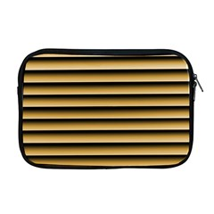 Golden Line Background Apple Macbook Pro 17  Zipper Case