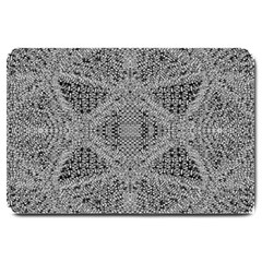 Gray Psychedelic Background Large Doormat
