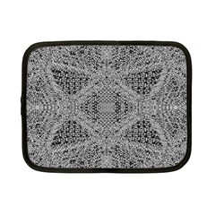 Gray Psychedelic Background Netbook Case (small)