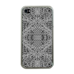 Gray Psychedelic Background Apple Iphone 4 Case (clear) by Amaryn4rt