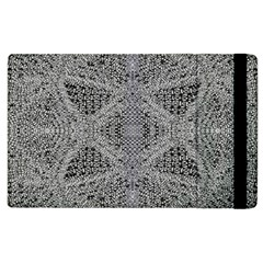 Gray Psychedelic Background Apple Ipad 2 Flip Case by Amaryn4rt