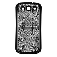 Gray Psychedelic Background Samsung Galaxy S3 Back Case (black) by Amaryn4rt