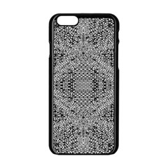 Gray Psychedelic Background Apple Iphone 6/6s Black Enamel Case by Amaryn4rt